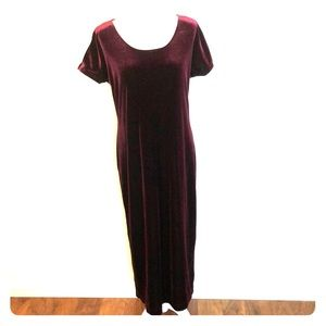 Vintage Burgundy Velvet Dress